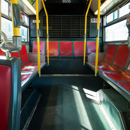 Acoustic insulation for bus interiors and flooring