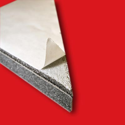 POLYDAMP FR3 adhesive backing suited for with highly fire-retardant materials