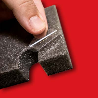 Adhesive backings for custom applications from Polymer Technologies